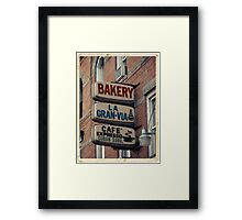 Bakery / Cafe Espresso La Gran Via - Store sign in Sunset Park, Brooklyn, NYC  Framed Print