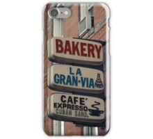 Bakery / Cafe Espresso La Gran Via - Store sign in Sunset Park, Brooklyn, NYC  iPhone Case/Skin