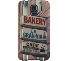 Bakery / Cafe Espresso La Gran Via - Store sign in Sunset Park, Brooklyn, NYC  Samsung Galaxy Case/Skin