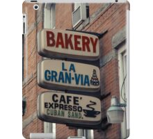 Bakery / Cafe Espresso La Gran Via - Store sign in Sunset Park, Brooklyn, NYC  iPad Case/Skin