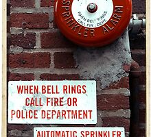 Vintage Sprinkler Alarm in the streets of NYC by Reinvention