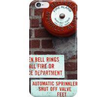 Vintage Sprinkler Alarm in the streets of NYC iPhone Case/Skin