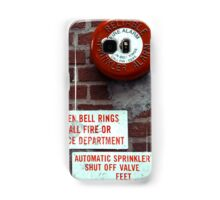 Vintage Sprinkler Alarm in the streets of NYC Samsung Galaxy Case/Skin