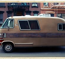 Very odd trailer / mobile home in the streets of the Lower East Side, NYC by Reinvention
