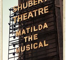 Shubert Theatre, Broadway, NYC- Matilda The Musical - Kodachrome Postcards  by Reinvention