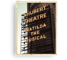 Shubert Theatre, Broadway, NYC- Matilda The Musical - Kodachrome Postcards  Canvas Print