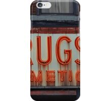 Drugstore Neon Sign in the East Village - Kodachrome Postcards  iPhone Case/Skin