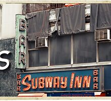 Subway Inn Bar neon sign in Manhattan, NYC - Kodachrome Postcards by Reinvention