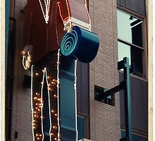 Tailor's shop neon sign in NYC - Kodachrome postcard by Reinvention