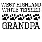 West Highland White Terrier Grandpa by kwg2200