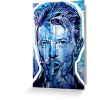 DAVID BOWIE - outline Greeting Card