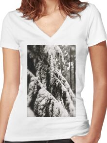 Draped in Splendor Women's Fitted V-Neck T-Shirt