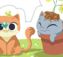 naughty kittens Sticker
