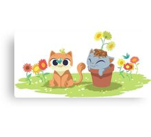 naughty kittens Canvas Print