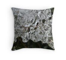 Pine Needles in Ice Throw Pillow