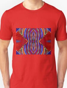 Psychedelic Red Flare Circles T-Shirt