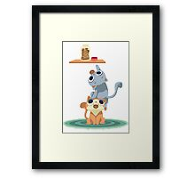 naughty kittens Framed Print