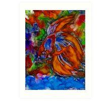 Fish Of Fire  1 0f  2 Art Print