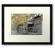 """Old Saloon"" Framed Print"