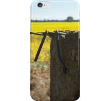 Golden Fields and Fences iPhone Case/Skin