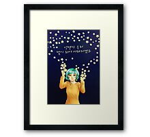 """""""One day we'll become stars.. Framed Print"""