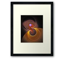 'Light Flame Abstract 257-2.08' Framed Print