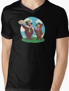 Yogi and Boo Boo Mens V-Neck T-Shirt