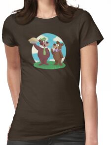 Yogi and Boo Boo Womens Fitted T-Shirt