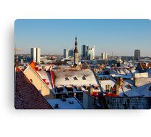 Tallinn's roofs Canvas Print