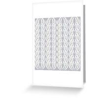 Art Deco White Shells Greeting Card