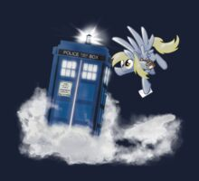 Derpy Tardis Delivery by DawnAllies