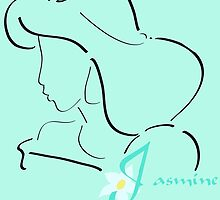 Jasmine´s outline in black by artescultura