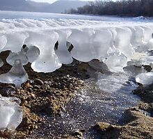 Time reflected in melting and freezing ice by Andrew Boysen