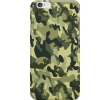 Camouflage army men green pattern iPhone Case/Skin