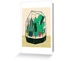 Terrarium - Geodesic Plant for Succulents and Cactus by Andrea Lauren Greeting Card