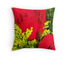 Red Rose Painting Throw Pillow