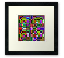 Square overlap color Framed Print