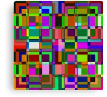 Square overlap color Canvas Print