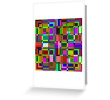 Square overlap color Greeting Card