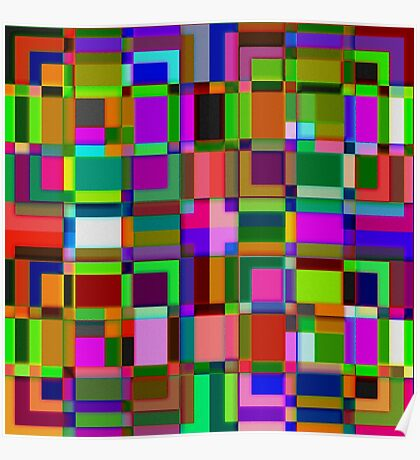 Square overlap color Poster