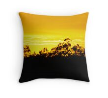 Sunset In The Gums Throw Pillow