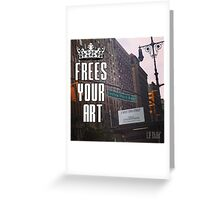 FYA - Frees Your Art #4 Greeting Card