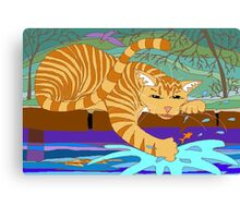 Cat Fishing Sort Of Canvas Print