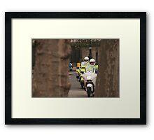 The cops, framed. Framed Print