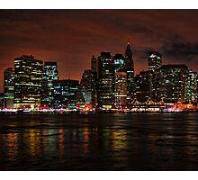 Lower Manhattan at Night Photographic Print