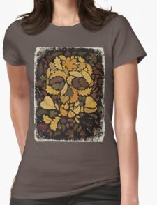Skeleton leaves Womens Fitted T-Shirt