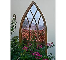 Reflections in a Hobbit window Photographic Print