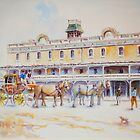Horse Carriage at Albion Hotel, Forbes by Sampa Bhakta