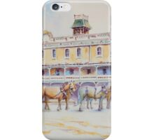 Horse Carriage at Albion Hotel, Forbes iPhone Case/Skin