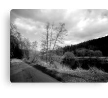 Black and white Landscape Canvas Print